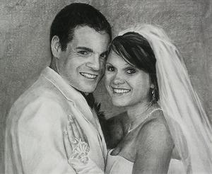 Utah Wedding artist - John Haag bride and groom