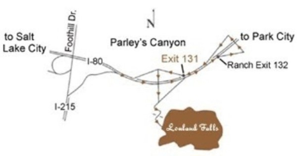 utah weddings receptions louland falls map