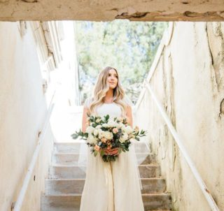 Forest-Green-White-and-Gray-wedding-colors-bride