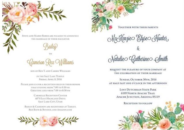 4-Unique-Wedding-Invitation-Styles-Beautiful-Wedding-Announcements