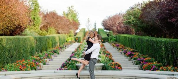 Thanksgiving Point gardens wedding engagement