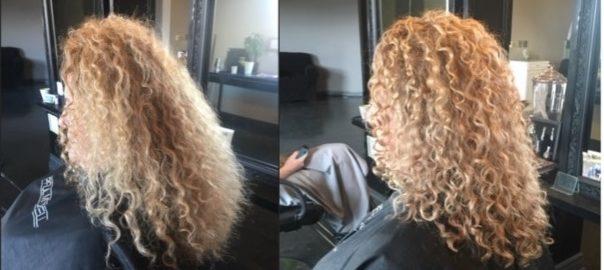 Utah Bride curly hair haircut