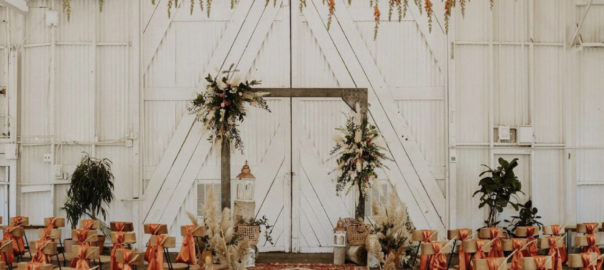 Utah Wedding isle decor